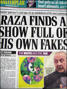 Raza fake report in Mail Today newspaper