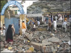Destroyed school in Saidu Sharif, Swat, Pakistan