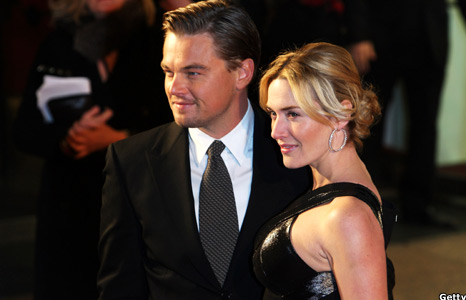 kate winslet and leonardo dicaprio titanic premiere. Kate Winslet and Leonardo