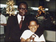 Barack Obama and father