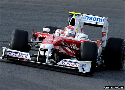 Kamui Kobayashi in the Toyota TF109
