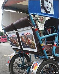 Bicycle-taxi in Havana, Cuba