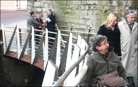 Bridge at Caernarfon Castle