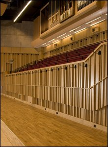Choir stalls at BBC Hoddinott Hall
