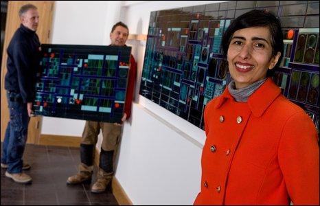 Artist Lubna Chowdhary unveils her mural