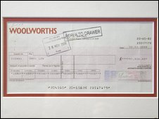 Woolworths cheque