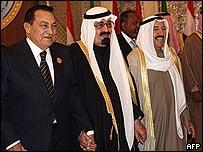 قادة مصر والسعودية والكويت