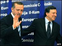 Жозе Мануэл Баррозу и премьер-министр Турции Тайип Реджеп Эрдоган