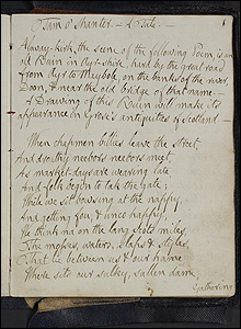 Tam o'Shanter manuscript (Pic courtesy of the Burns Cottage Museum)