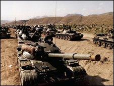 Soviet troops in Afghanistan in the 1980s.