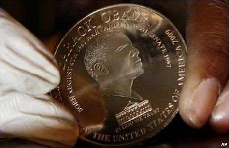 Obama commemorative coin