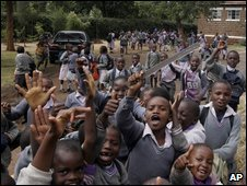 Children at a primary school in Nairobi, Kenya