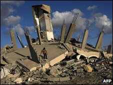Demolished building in Jabaliya Camp, Gaza