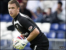 Inverness goalkeeper Michael Fraser