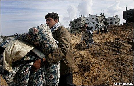 Palestinians in Beit Lahiya
