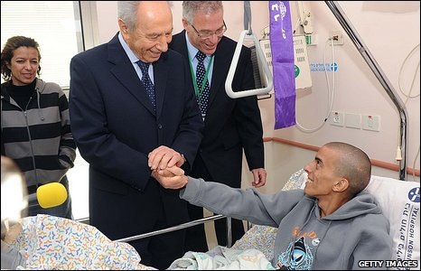 Shimon Peres visit soldiers