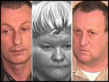 Lee Wicks, Tina Butcher and Colin Wicks