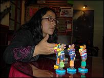 Julieta Ojeda, integrante de la organización Mujeres Creando