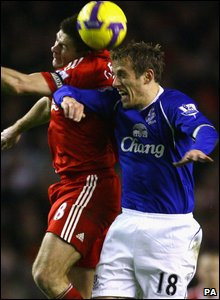 Steven Gerrard and Phil Neville