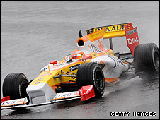 Nelson Piquet in the new Renault R29