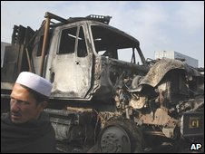 Truck attack in Peshawar, file pic