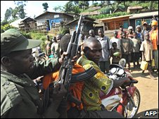 File photo of FDLR fighter in Dr Congo
