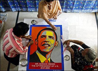 Индийский художник Дарла Нагесвара Рао за работой
