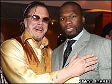 Mickey Rourke and 50 Cent