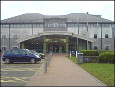 Anglesey council office at Llangefni