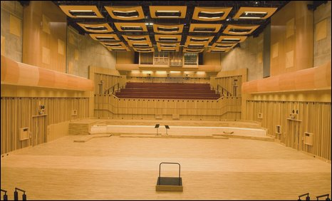 Interior of BBC Hoddinott Hall