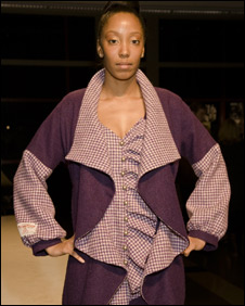 Harris Tweed outfit at New York fashion show