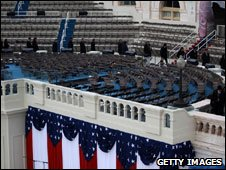 Inaugural platform at the US Capitol, 19 Jan