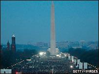 Центр Вашингтона, заполненный людьми