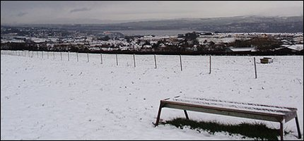 View of Derry in the snow