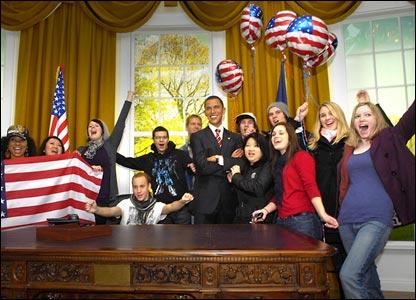 Обама в лондонском музее восковых фигур мадам Тюссо