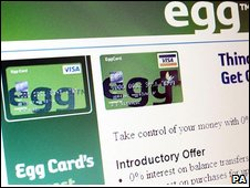 Advert for Egg credit card