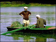 Egyptian fishermen (Image: BBC)