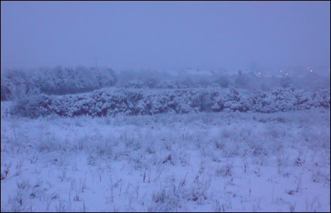 Steven Elder sent in this image of snow in Letterkenny