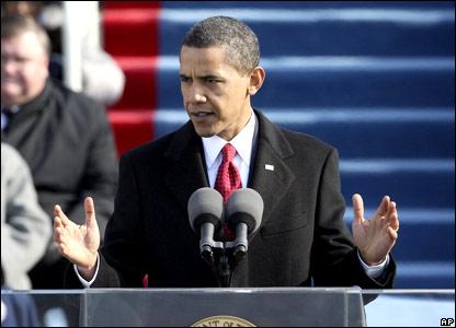 Барак Обама произносит речь