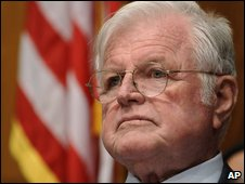Edward Kennedy in a photo from January 2009