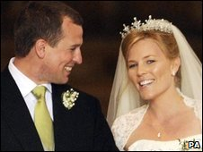 Peter Phillips and Autumn Kelly at their wedding in May 2008