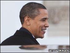 Barack Obama at the White House, 20 January