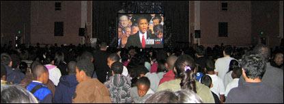 Festejos en Los �ngeles por la asunci�n de Obama