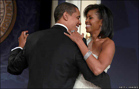 Barack Obama and Michelle Obama dance at MTV ^ ServiceNation: Live From The Youth Inaugural Ball