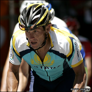 Lance Armstrong on Stage 2 of the Tour Down Under