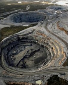 BHP Billiton diamond mine in Northwest Territories, Canada.