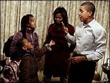The Obama girls' first day at school