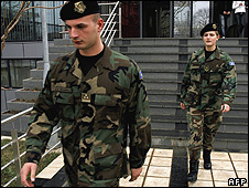Members of the new Kosovo Security Force (KSF) in Pristina