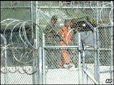 Unidentified prisoner in Guantanamo Bay