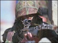 Soldado en pie de guerra
